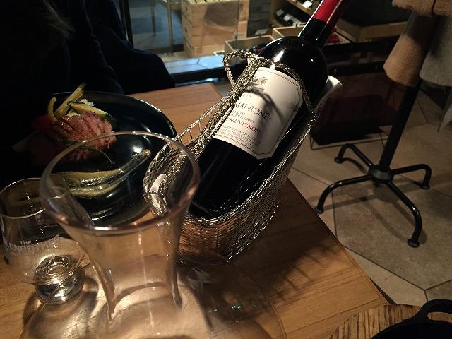 ワインも丁寧に扱ってくれる