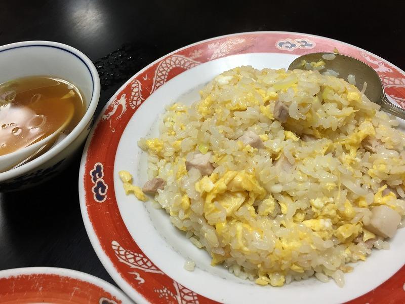 卵チャーハンはさっぱりしてて美味しい
