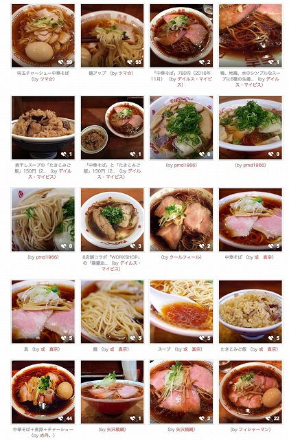 食べログの写真一覧