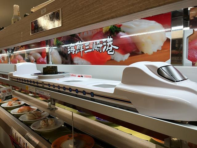 注文した寿司は新幹線