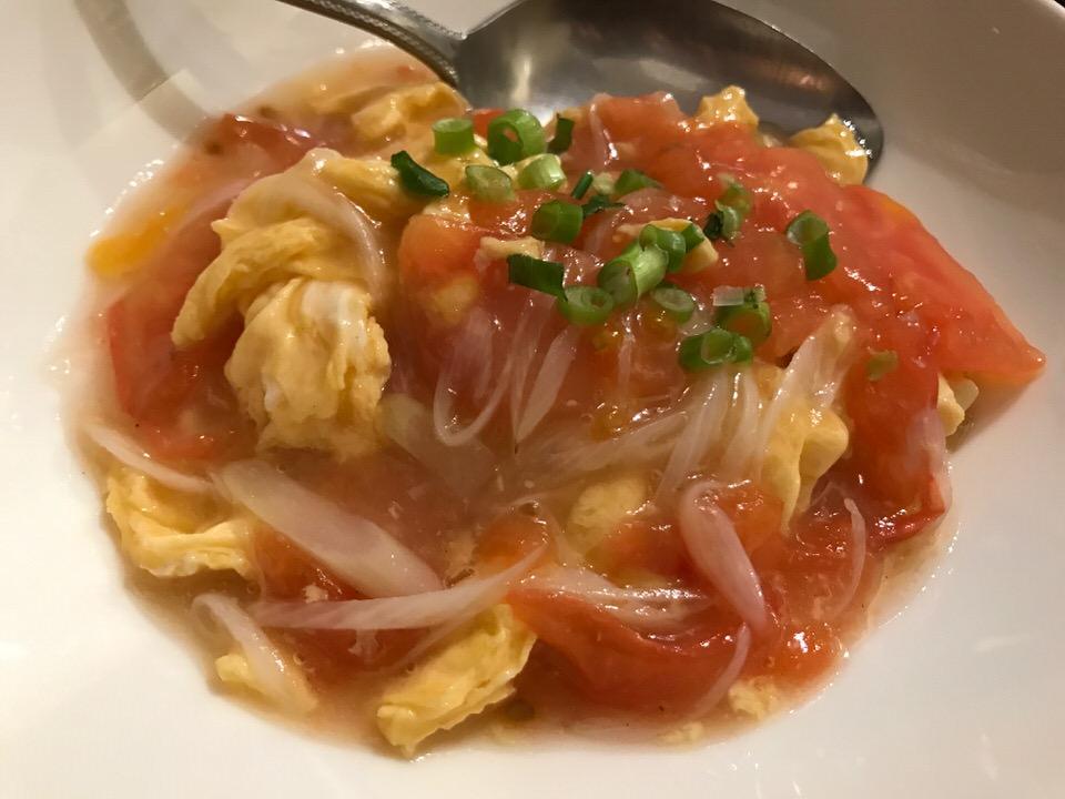 さっぱりトマトと卵のふわふわ炒め